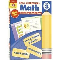 Evan-Moor Skill Sharpeners Math Grade 3 小学三年级数学练习册 美国加州教辅 技能