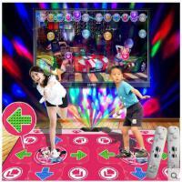 七彩舞台灯健身游戏瘦身机双人LED发光按摩手舞跳舞机电视电脑两用接口跳舞毯