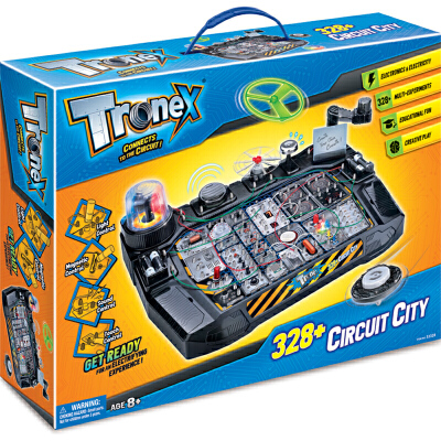 香港Tronex儿童stem科学实验套装科技小制作科普科教益智玩具8-12岁男孩电动电路diy拼装电科学328合1整套STEAM教育玩具,给孩子打开一扇科学之门