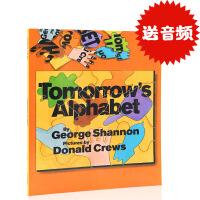 英文原版绘本 Tomorrow's Alphabet 廖彩杏书单 平装图画书 学习26个字母 幼儿英语启蒙书