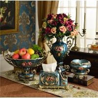 欧式奖杯花瓶摆件客厅奢华双耳美式复古乡村装饰插干花器乔迁礼物SN5854