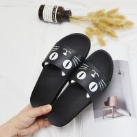 韩版个性可爱学生拖鞋女夏时尚室内外穿家居洗澡防滑厚底一字凉拖