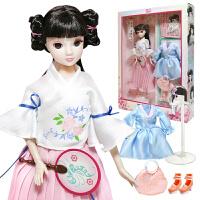 可儿娃娃汉服社公主儿童玩具古装玩偶换装礼盒全套装生日礼物