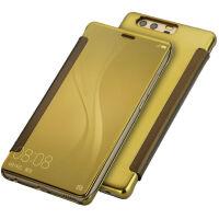 坚达 手机壳电镀镜面保护套皮套翻盖手机套外壳 适用于 华为P9