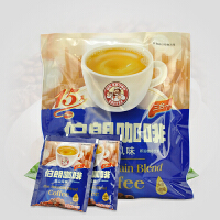 台湾伯朗咖啡 蓝山风味速溶三合一咖啡 即溶咖啡225g(15g*15包)