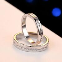925银饰品情侣戒指一对价心跳对戒男女开口活口创意刻字