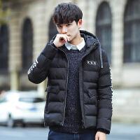 男士棉衣外套冬季2018新款青年学生短款帅气男装韩版修冬装男