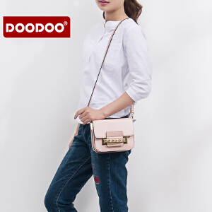 【支持礼品卡】DOODOO 斜挎小包包2018新款女潮韩版时尚简约百搭女士斜跨风琴女包 D6209