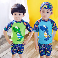 3-9岁男童幼儿泳衣 儿童小童分体游泳衣 中大童宝宝幼儿泳帽泳装穿