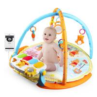 迪士尼DISNEY婴幼儿童小熊维尼多功能脚踏健身架加厚圆毯健身床铃礼盒装玩具