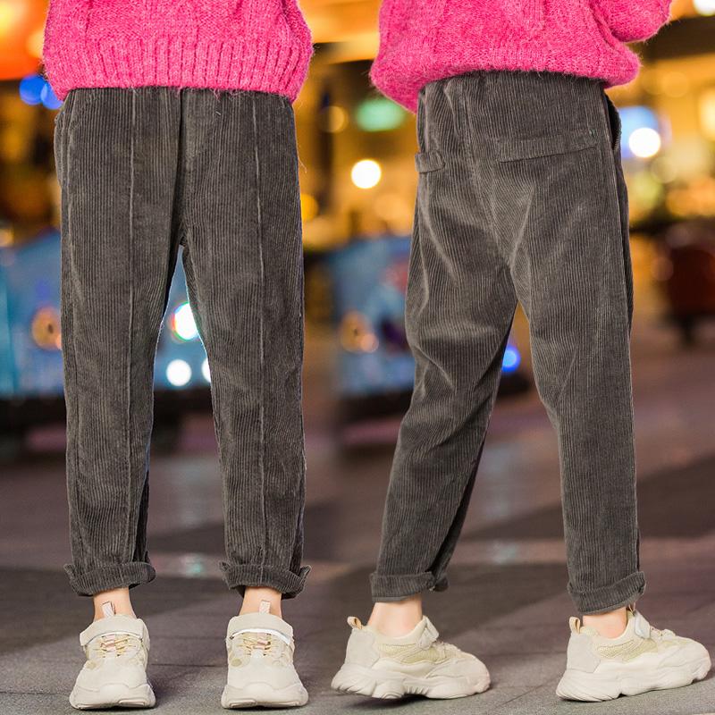 女童灯芯绒长裤儿童裤子小女孩休闲裤