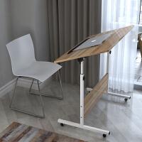 电脑桌简易家用笔记本桌床上用简约可折叠床边移动升降学习写字书桌子满额减限时抢*家具用品
