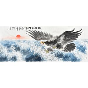 当代实力派画家黄开元小六尺花鸟画《鹏程万里》gh04192