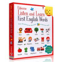 英文原版绘本 触摸可发声英语单词卡片 Listen and Learn English Words 儿童低幼启蒙认知书