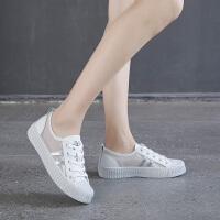 帆布鞋女学生韩版夏款平底小白鞋网布透气春款鞋子女2019潮鞋板鞋夏季百搭鞋