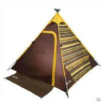 户外装备户外防风防雨 轻航空铝杆户外露营帐篷 3-4人
