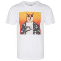 NIKE耐克 男装 运动短袖休闲透气圆领T恤 BQ0186-100