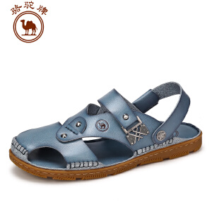 骆驼牌男鞋 夏季新品日常休闲男凉鞋子男士露趾舒适透气沙滩鞋