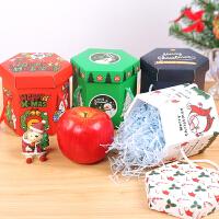 新款创意六边形苹果盒提篮式礼物盒平安夜圣诞节礼盒包装盒子糖盒