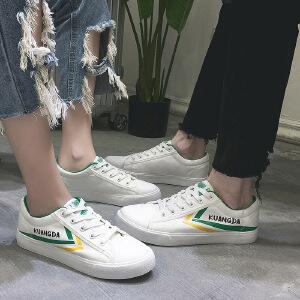 匡达2017新款秋季情侣鞋韩版帆布小白鞋学生透气潮女鞋