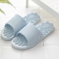 夏季按摩女家居家用室内情侣洗澡浴室防滑漏水软底夏天凉拖鞋男士