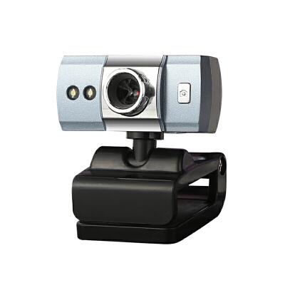 电脑摄像头带麦克风话筒台式家用高清魔幻夜视笔记本视频usb免驱 内置麦克风