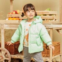 moomoo童装男童羽绒服冬装新款小女宝宝洋气卡通羽绒厚面包服萌