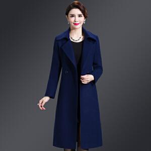纤纯伊新款女装无双面羊绒大衣女中长款韩版秋冬羊毛呢外套