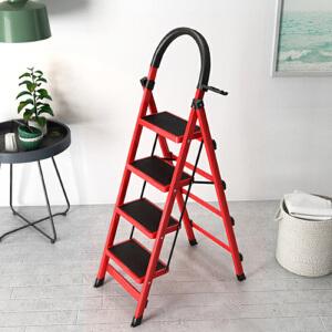 折叠梯 家用折叠室内人字多功能梯四步梯五步梯加厚钢管伸缩踏板爬梯稳固结实耐用爬梯