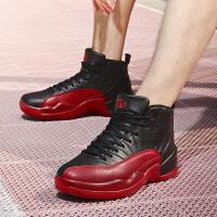 Q-AND/奇安达男子篮球鞋中高帮减震防滑耐磨篮球战靴男款篮球训练鞋