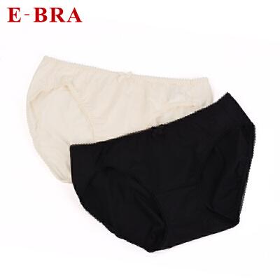 【100任选4件】安莉芳集团E-BRA女士内裤纯色舒适中低腰三角裤KP1072 吸汗排湿,快速干爽