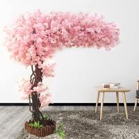 假花仿真花樱花树仿真樱花树许愿树假樱花树大型客厅酒店装饰假桃花树婚庆仿真桃树