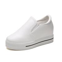 小白鞋内增高女鞋鞋松糕单鞋韩版鞋女跑步鞋拍小白鞋女鞋