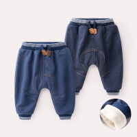 宝宝裤子男童加绒裤牛仔裤冬季棉裤婴儿长裤