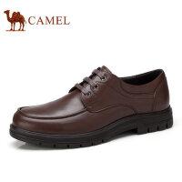 camel 骆驼男鞋秋冬新品商务休闲真皮系带低帮鞋休闲男士皮鞋