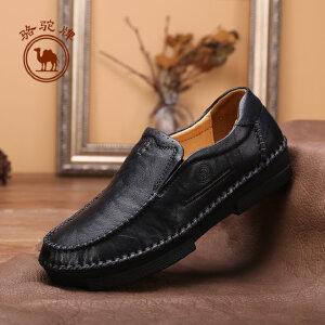 骆驼牌 新款女牛皮单休 舒适耐磨套脚女鞋休闲女单鞋