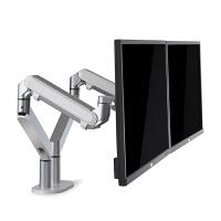 显示器支架双屏拼接电脑架铝合金万向旋转升降显示屏底座