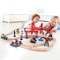 Hape儿童模型玩具火车轨道多功能套3岁+
