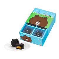 【年货】一之乡line friends熊大巧克力凤梨酥礼盒 8入  台湾创意特色糕点饼干新年礼盒