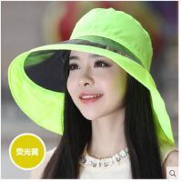 女士UV镜大沿遮阳帽遮脸护颈太阳帽防水防晒防紫外线韩版
