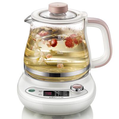 小熊(Bear)养生壶 多功能迷你煮茶壶 玻璃电水壶养身燕窝煲0.8L YSH-A08G10.8升 玻璃炖盅 玻璃滤网 预约定时