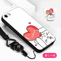 苹果5手机壳A1530保护套ipone se挂绳iPhone5s创意潮A1723男女5s