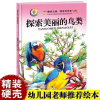 精装硬皮/硬壳绘本 神奇的动物 探索美丽的鸟类 动物世界大百科全书小学版 彩图版 幼儿科普绘本书籍
