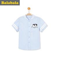 巴拉巴拉童装儿童短袖衬衫男宝宝上衣半袖2017夏新款小童男童衬衣