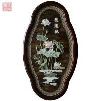 中式客厅装饰画有框玉雕壁画立体浮雕画 玄关木雕工艺挂画中国风 其他长方形尺寸 独立