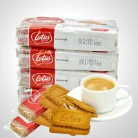 比利时进口饼干 lotus和情缤咖时焦糖饼干124gX4包 酥性糕点零食