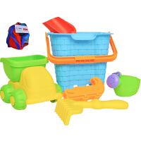 费雪Fisher-Price 6件儿童沙滩玩具套装 宝宝洗澡玩具挖沙工具戏水玩沙早教模型NG-322