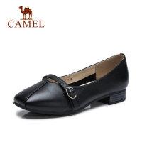 【每满100减50 200-100 300-150】Camel 骆驼女鞋2018春新款女士平底上班鞋低跟妈妈鞋舒适小皮