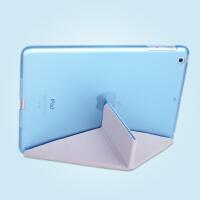 苹果ipad5 6 air2保护套iapd3迷你2超薄mini4皮套apad透明ipda4壳 ipad5 air1-天