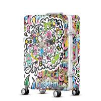 2018新款儿童卡通男女时尚涂鸦拉杆箱行李箱万向轮登机箱超轻旅行
